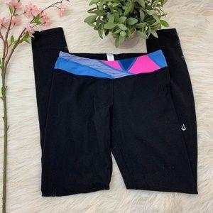 Ivivva Black Geometric Pink Blue Leggings 14
